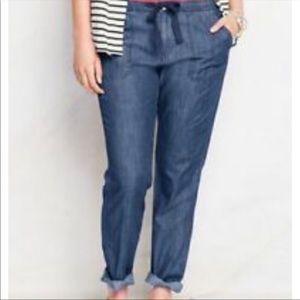 Lands' End  Pants Size 16 P Straight Leg Blue Jean
